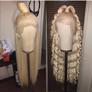 Platinum blonde 28' wig  custom lace front